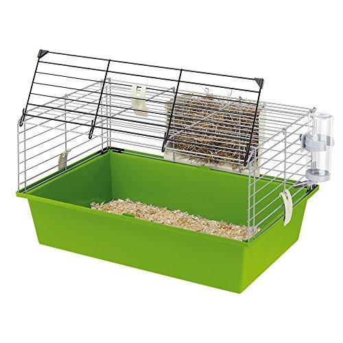Ferplast Käfig für Meerschweinchen Cavie 60, Sicherheitsverriegelungssystem, Mitgeliefertes Zubehör,...