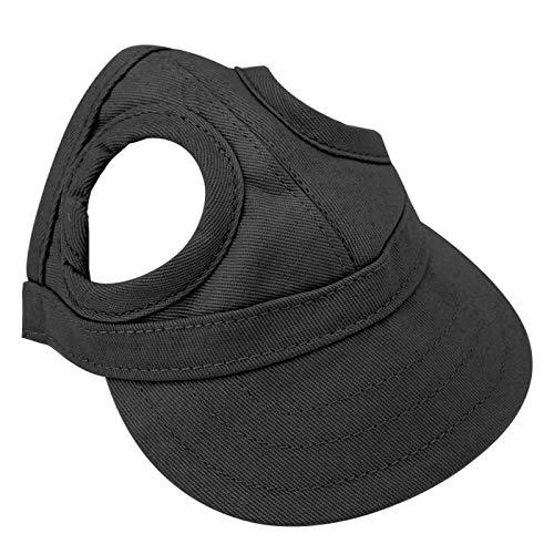 Juicemoo Hundekappe, Haustier-Baseball-Hut Sunbonnet(Pet Cap Black, M)