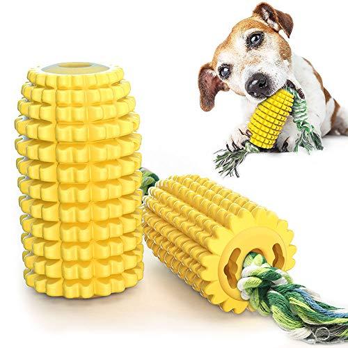 CEESC Kauspielzeug für Hunde, Mais Molar Stick bissfest Zahnbürste Hundespielzeug mit Seil, Reinigung...