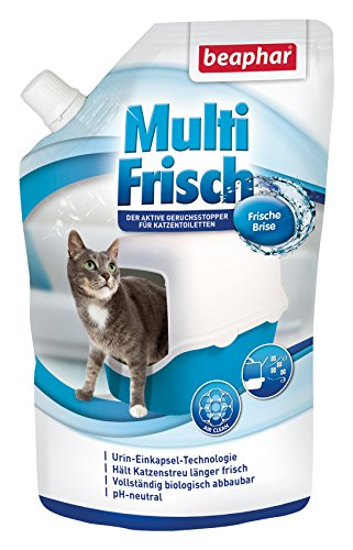beaphar Multi Frisch Frische Brise | Geruchsneutralisierer für Katzenklos | Verlängert die Haltbarkeit...