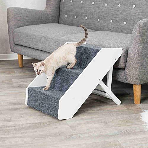Trixie 39488 Heimtiertreppe, verstellbar, 3-stufig, 40 × 67 cm, weiß