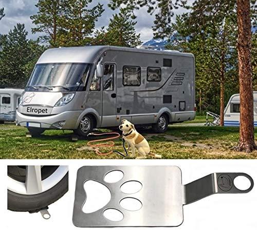 elropet Dog Holder/Camping mit Hund/befahrbarer Ankerpunkt/Bodenanker für Wohnmobil/Wohnwagen aus...