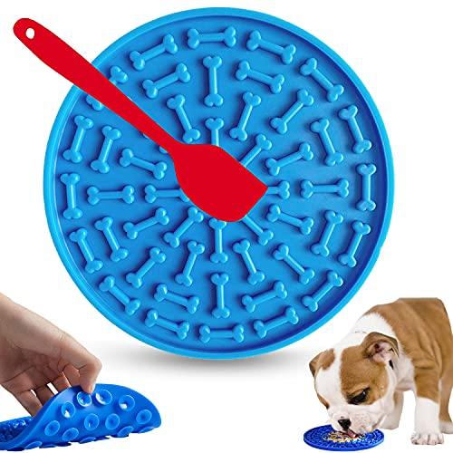 WELLXUNK Leckmatte für Hunde, Hund Lecken Pad, Leckmatte Hund, Runde Pad Slow Feeder, Slow Feeder...