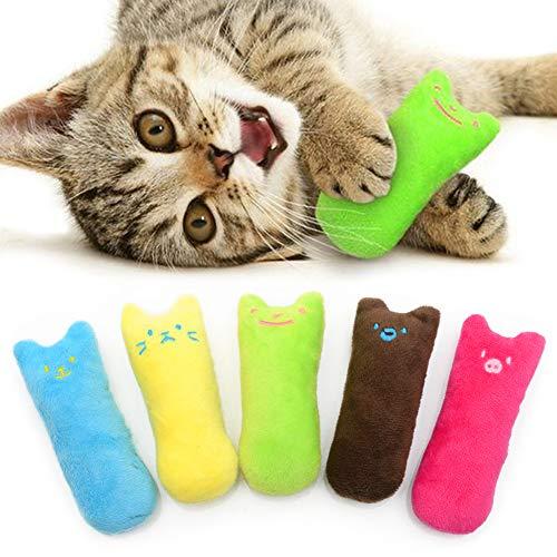 AnCoSoo Spielzeug mit Katzenminze, Katzenspielzeug Set aus Katzenkissen mit Katzenminze, Interaktives...