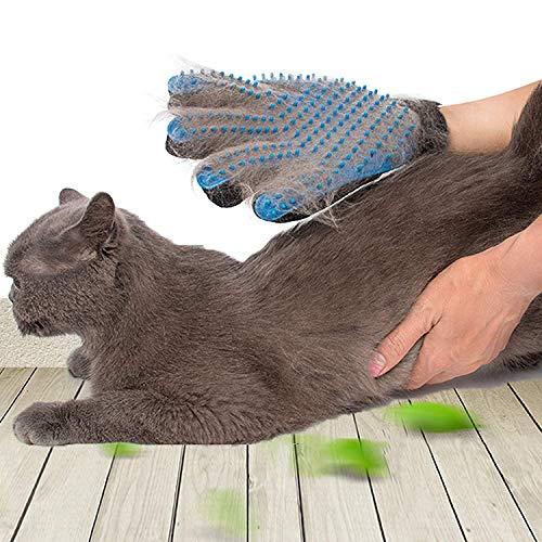 SSRIVER Haustier-Fellpflegehandschuh, Haarentferner, Bürste, sanftes Desheddern, effizientes...