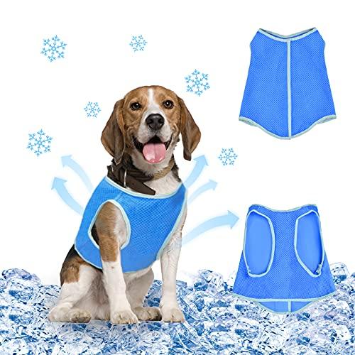 Hundekuhlweste, Hundeweste Sommer, Kühlweste für Hunde Atmungsaktiv und Wiederverwendbar, Geeignet für...