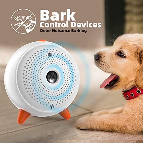 Antibell für Hunde, Hund Antibell Gerät Ultraschall Anti Bellgerät Bellenstopper mit LED Antibell für...