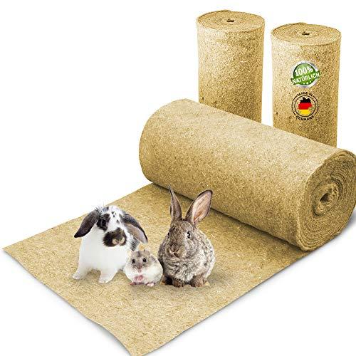 Nagerteppich aus 100% Hanf auf Rolle mit 5m Länge, 40cm Breite, 5mm dick, Hanfteppich für alle Arten...
