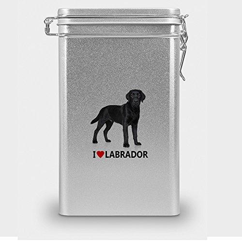 Hundefutterdose 'Labrador', Vorratsdose,Leckerliedose, Blech-Dose, Hundenapf mit Motiv 'Labrador' -...