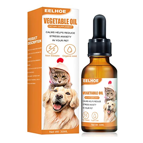 Shenrongtong 30ML Hund Beruhigendes Öl, Sicheres Beruhigendes Hundeöl Reduzieren Sie Stress...