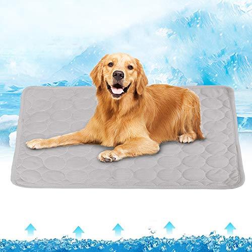 Große Hundekühlmatten, Selbstkühlendes Pad Für Haustiere Eisseidenmatte Hund/Katze Schlafkühler...