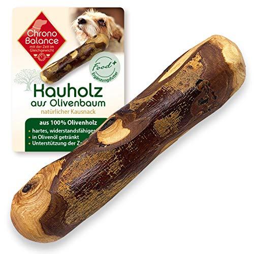 ChronoBalance® Natürliches Olivenholz als Kauknochen für Hunde, Kauholz, Kaustab aus Olivenholz, in...
