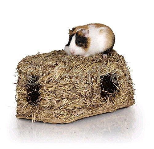 Natur Gras Heu Stroh Nager Meerschweinchen Kaninchen Hamster Tunnel Haus Nest Höhle Maus (06145)