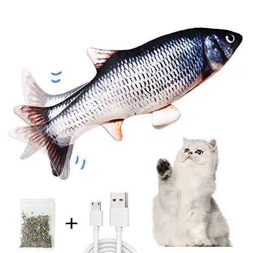 AnCoSoo Elektrisch Spielzeug Fisch, Katzenminze Fischspielzeug für Katze, interaktives Katzenspielzeug,...