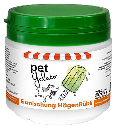 cdVet Naturprodukte petGelato HägenRübli 375 g - Hund, Katze, Pferd - Eismischung - Leckerli -...