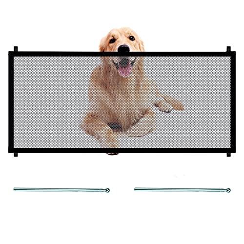 Hund Treppenschutzgitter, Treppengitter Ohne Bohren 180X70cm, Faltbare Hundeabsperrgitter Türgitter...