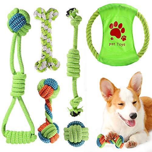ACE2ACE Hunde Spielzeug Set, Hergestellt aus 100% Natürlicher Baumwolle Seil, Entwickeln Hunde...