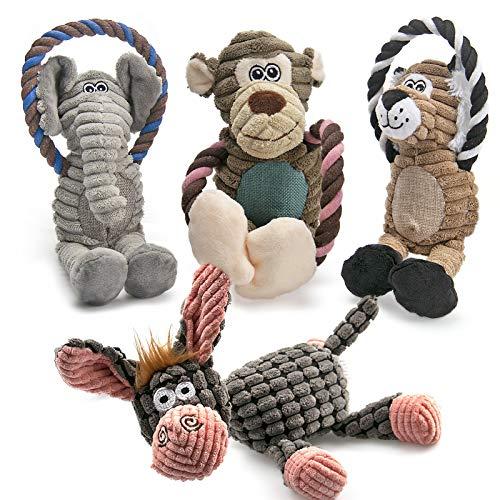 AWOOF Spielzeug für Hunde, Interaktives Plüsch Hundespielzeug, stabiles Quietschende Hundespielzeuge...