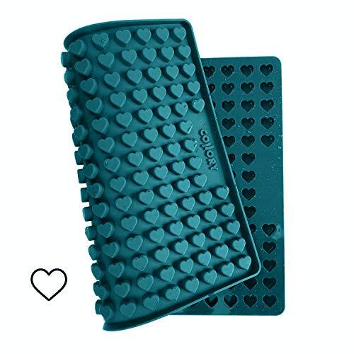 Collory Silikon Backform Mini Herz für Hundekekse & Hundeleckerlis zum selber backen, Backmatte für...