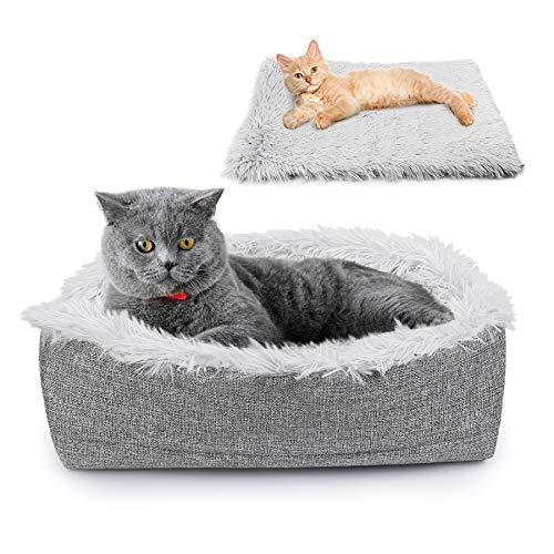 Toozey Selbstheizende Decke für Katzen & Hunde, 2 In1 katzenbett, 60x50cm, Innovative &...