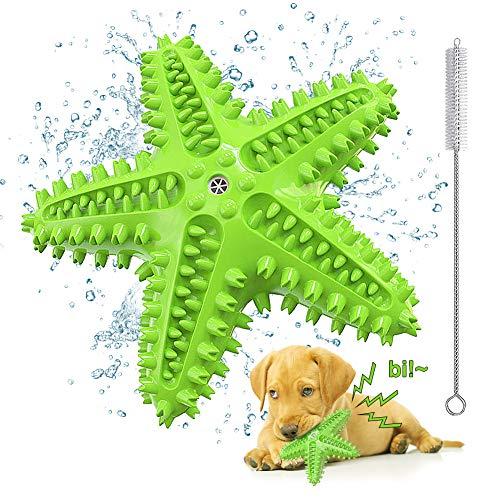 Welpen Spielzeug für Hunde Zahnpflege, Quietschendes Hundespielzeug Unzerstörbar, Seestern Hunde...