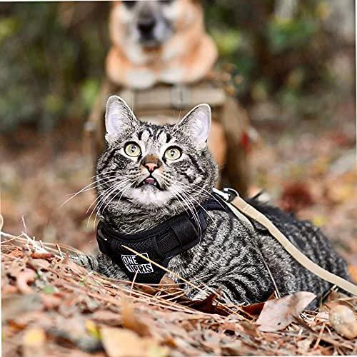 OneTigris Katzengeschirr mit Leine Claw Enforcement Taktisches Hundegeschirr Welpengeschirr Set Weich...