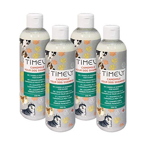 Timely Kamille-Hundeshampoo, sanft und doch gründlich für raues und trockenes Haar (Packungsinhalt 4 x...