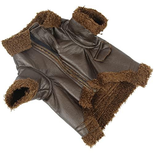 Hundejacke Mantel, Comfort Hundelederjacke für Outdoor für Katzen für kleine mittelgroße Hunde für...