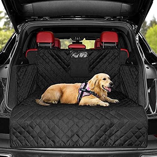 KYG Universal Kofferraumschutz Hunde - Kofferraumdecke mit Ladekantenschutz - Wasserabweisend &...