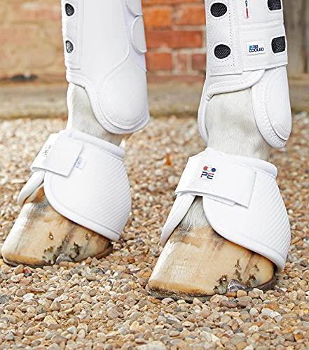 Premier Equine Hufglocken Carbon Tech Kevlar No-Turn Over Reach Boots White L