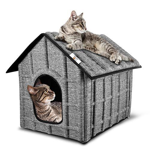 PUPPY KITTY Katzenhaus für draußen, Winter, Katze, Hütte, 52 x 42,5 x 42cm, leicht zu reinigen,...