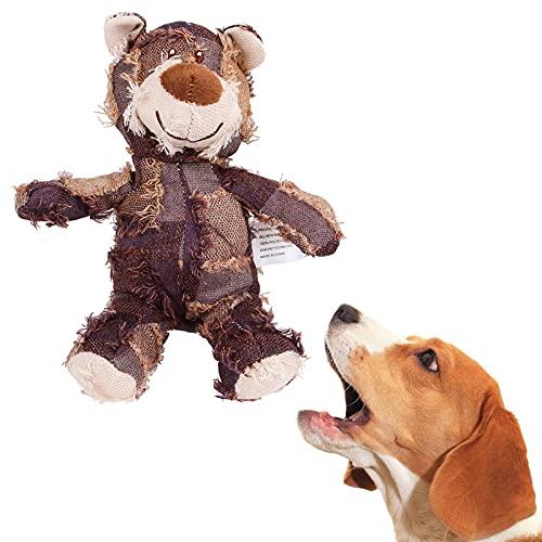 Hundespielzeug aus Plüsch, langlebig, quietschend, interaktives Spielzeug, weich gefülltes Kauspielzeug...