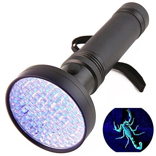 Ulanda UV Schwarzlicht Taschenlampe mit 100 LEDs, Haustiere Urin-Detektor für eingetrocknete Flecken...