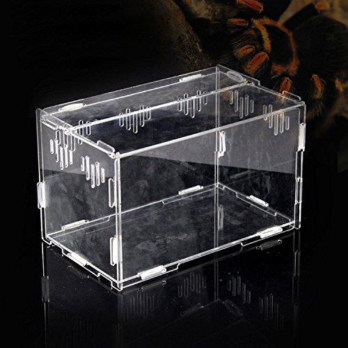 Acryl transparent Pet Reptilien Box, Zucht Tanks Behälter für Eidechse Chameleon Spider Schlange andere...