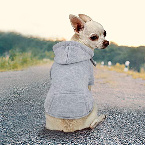 Idepet Haustier Kleidung Hundepullover Hunde Kleider welpen Pullover Hunde Warmer Mantel für Katzen...