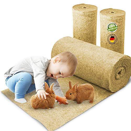 Nagerteppich aus 100% Hanf auf Rolle mit 5m Länge, 50cm Breite, 5mm dick, Hanfteppich für alle Arten...