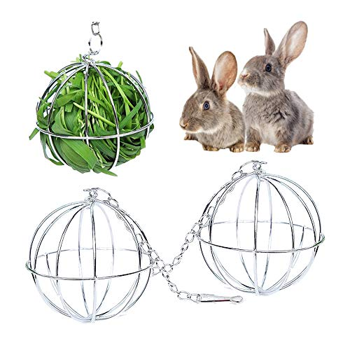 ND Heiqlay Heuball zum Aufhängen, Heuball Kaninchen, Hay Ball, Heuball aus Edelstahl Pet Spielzeug für...