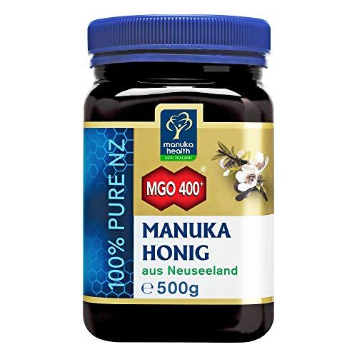 Manuka Health - Manuka Honig MGO 400+ 500g - 100% Pur aus Neuseeland mit zertifiziertem Methylglyoxal...