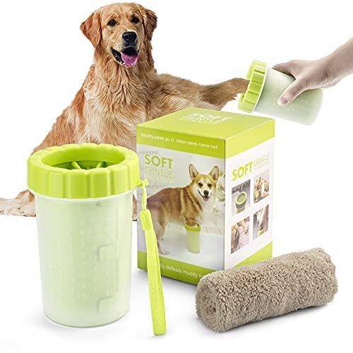 Pfotenreiniger für Hunde, L-Code Haustierpfotenreiniger, Tragbarer Hundepfoten Reiniger, Hunde...