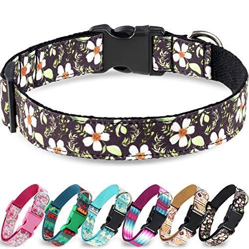 Taglory Verstellbares Hundehalsband,Weich & Komfort Hunde Halsband für Katzen und Extra Kleine...