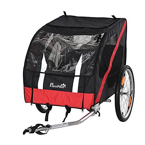 Pawhut Hundeanhänger Fahrradanhänger Hundetransporter geländegängig Hunde Fahrrad Anhänger...