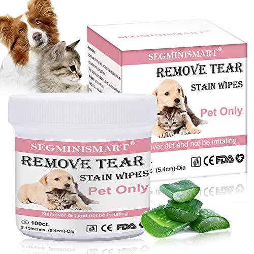 SEGMINISMART Augen-Reinigungspads für Hunde und Katzen, Haustier-Augen-Tücher, Milde Augen-Reinigung...