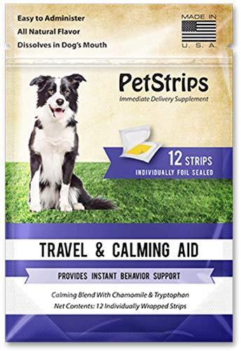 PetStrips Reise- und Beruhigungshilfe für Hunde, 12 schnell wirkende Streifen