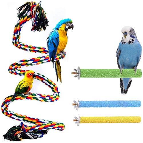 Trecynd Vogel Barsch Ständer Spielzeug Papagei Seil Sitzstangen Ständer Papagei Ständer Plattform...