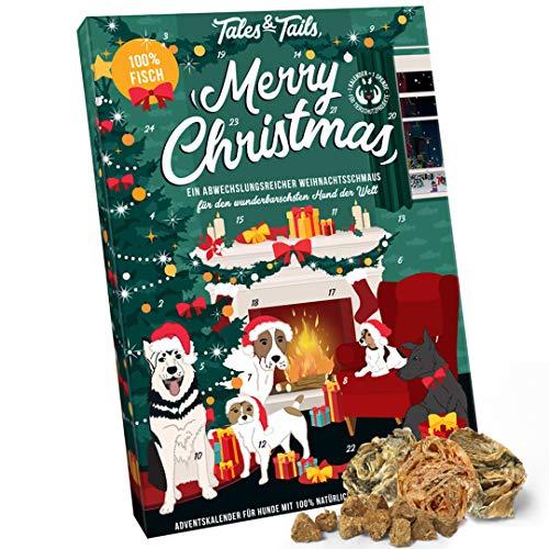 Tales & Tails® Adventskalender für Hunde, Weihnachtskalender für Vierbeiner mit 24 leckeren Kausnacks...