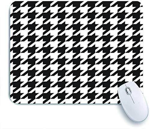 QINCO Gaming Mouse Pad Rutschfeste Gummibasis,Hundezahn mit schwarz und weiß,für Computer Laptop Office...
