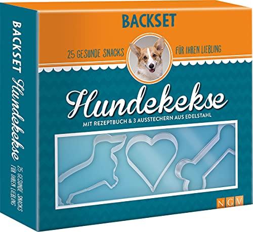 Backset Hundekekse.25 gesunde Snacks für Ihren Liebling: Buch & 3 Ausstecher aus Edelstahl