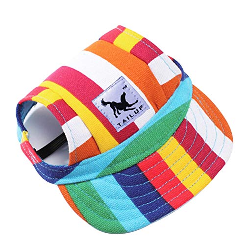kangOnline Haustier-Baseballkappe für Hunde, verstellbar, Sonnenschutz, Sport, Visierkappe mit...