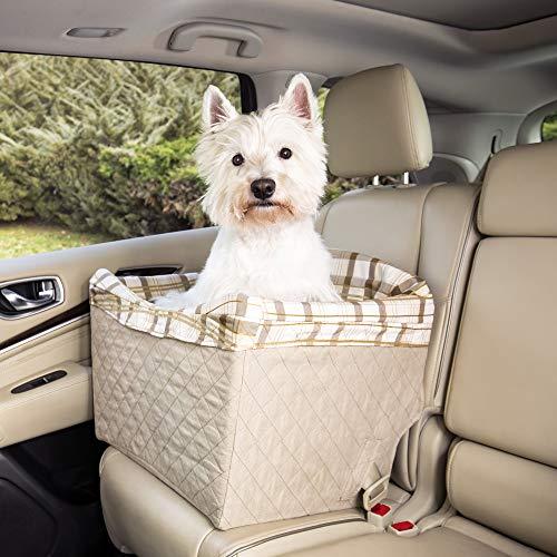 PetSafe Solvit Deluxe Haustier Autositz, Sicher, Komfortable, für Hunde und Katzen, gesteppt