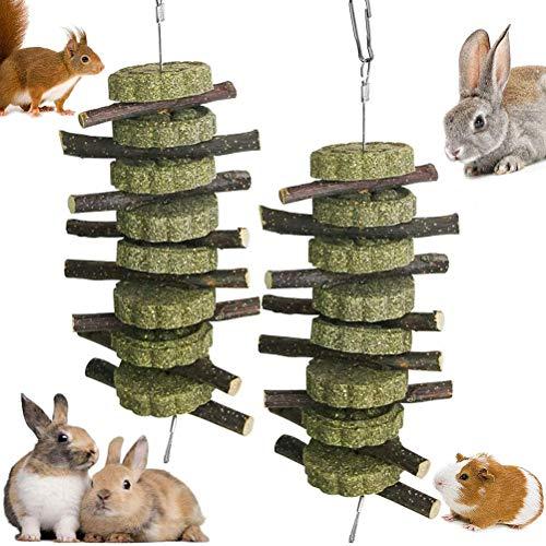 BSTEle Hamster Kauspielzeug, 2 Stück Apfelstäbchen Kleintiere Kauenspielzeug für Kaninchen,...